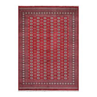 Herat Oriental Pakistani Hand-knotted Bokhara Wool Rug (9'5 x 13')