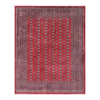 Herat Oriental Pakistani Hand-knotted Bokhara Red/ Ivory Wool Rug (9'4 x 11'9)