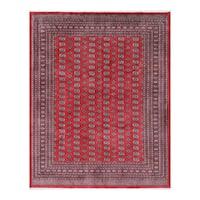 Herat Oriental Pakistani Hand-knotted Bokhara Wool Rug (9'4 x 11'9) - 9'4 x 11'9