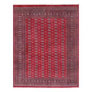 Herat Oriental Pakistani Hand-knotted Bokhara Red/ Ivory Wool Rug (9'2 x 11'9)