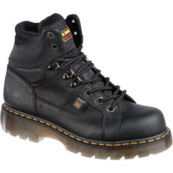 Men's Dr. Martens Ironbridge ST IM 8 Tie Lace To Toe Boot Black Industrial Grizzly