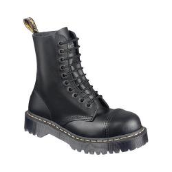 Dr. Martens 8761FH 10-Eyelet Cap Toe Boot Black Fine Haircell