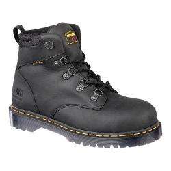 Dr. Martens Holkham Steel Toe 5 Tie Hiker Black Industrial Greasy