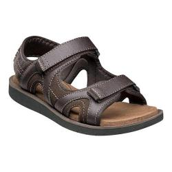 Men's Nunn Bush Bluffside Two-Strap Sandal Brown Synthetic Crazy Horse/Suede