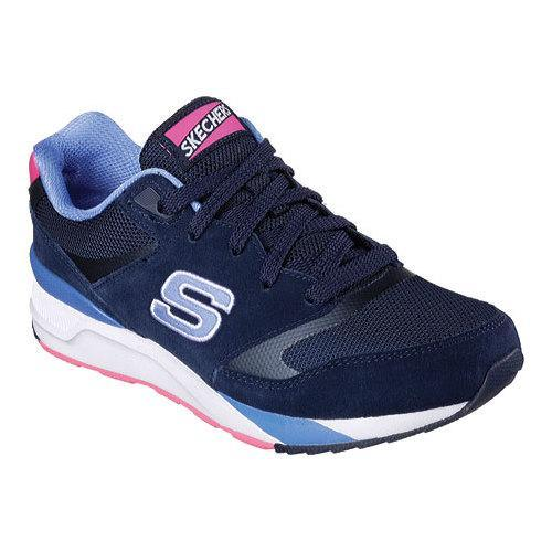 Shop Women s Skechers OG 90 Rad Runners Sneaker Navy Blue - Free Shipping  Today - Overstock - 11655851 0aaa96012040