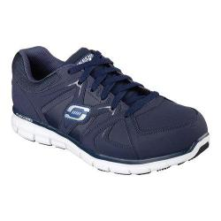 Men's Skechers Work Relaxed Fit Synergy Ekron Alloy Toe Lace Up Navy