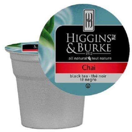 Higgins & Burke Specialty Tea Chai, K-Cup Portion Pack for Keurig Brewers