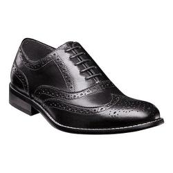 Men's Nunn Bush TJ Wing Tip Oxford Black Leather