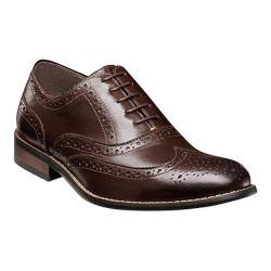 Men's Nunn Bush TJ Wing Tip Oxford Brown Leather