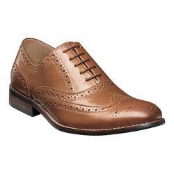 Men's Nunn Bush TJ Wing Tip Oxford Tan Leather