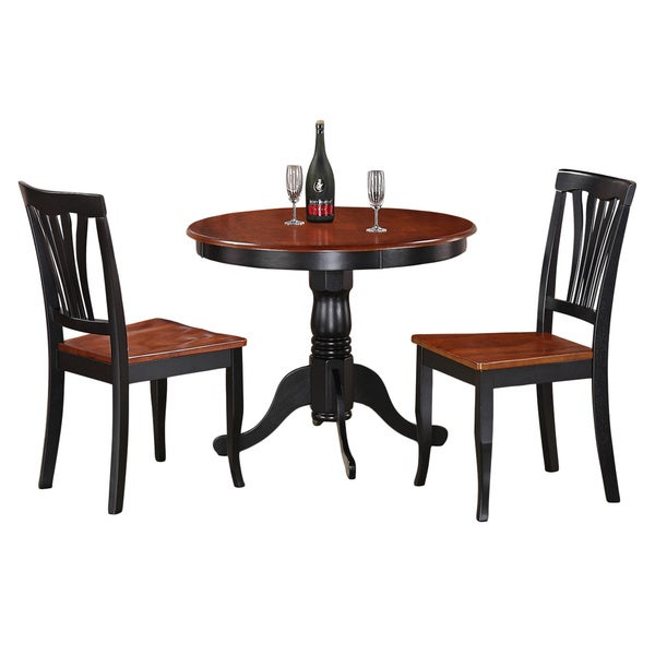 3-Piece Kitchen Nook Dining Set-Small Kitchen Table and 2 Kitchen Chairs  sc 1 st  Overstock.com & Shop 3-Piece Kitchen Nook Dining Set-Small Kitchen Table and 2 ...