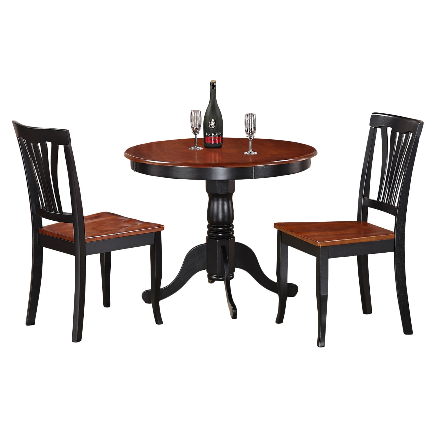 3-Piece Kitchen Nook Dining Set-Small Kitchen Table and 2...