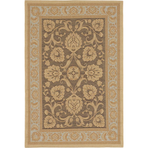 Ecarpetgallery Antigua Dark Brown Light Yellow Indoor Outdoor Rug