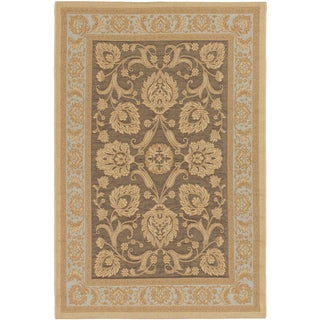 Ecarpetgallery Antigua Dark Brown Light Yellow Indoor Outdoor Rug (6'4 x 9'1)