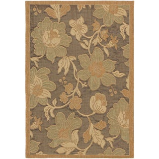 Ecarpetgallery Antigua Dark Brown Light Brown Indoor Outdoor Rug (3'3 x 4'8)