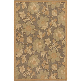 Ecarpetgallery Antigua Dark Brown Light Brown Indoor Outdoor Rug (4'9 x 7'3)