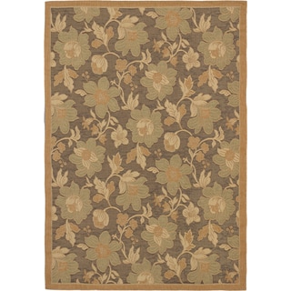 Ecarpetgallery Antigua Dark Brown Brown Indoor Outdoor Rug (6'4 x 9'1)