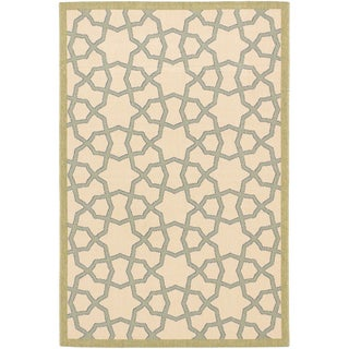 Ecarpetgallery Nueva Ivory Indoor Outdoor Open Field Rug (6'7 x 9'5)