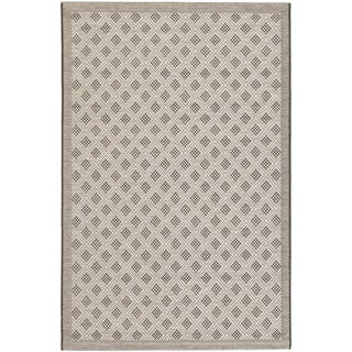 Ecarpetgallery Playa Black Light Gray Diamond Indoor Outdoor Rug (3'3 x 4'9)