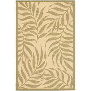 Ecarpetgallery Playa Cream Dark Dull Yellow Open Field Indoor Outdoor Rug (6'7 x 9'4)