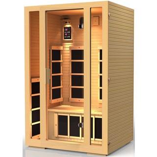 JNH Lifestyles Joyous 2-person Far Infrared Wood Sauna / Model MG215HB