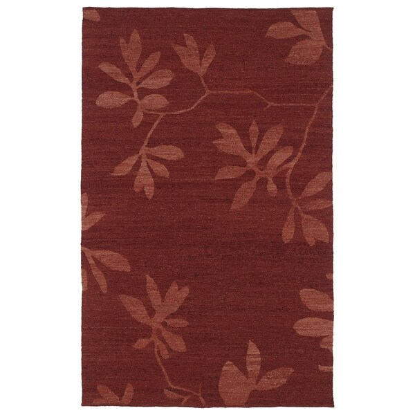 "Handmade Wool Mallard Creek Salsa Altamaha Floral - 5' x 7'9"""