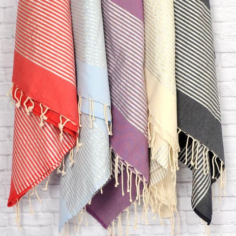 Pestemal Lurex Fouta Cotton Bath/ Beach Towel
