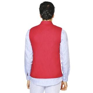 Men's A.N.D. by Anita Dongre Mandarin Collar Button Down Vest (India)