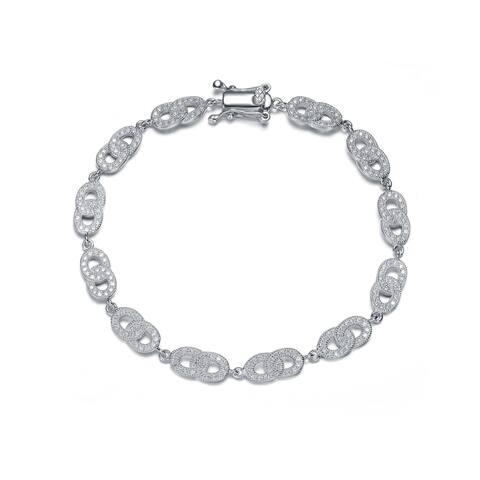 Collette Z Sterling Silver Cubic Zirconia Pave-set Bracelet - White