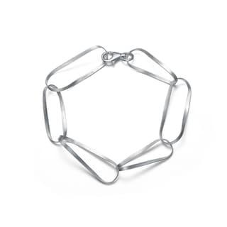 Collette Z Sterling Silver Matte Link Bracelet