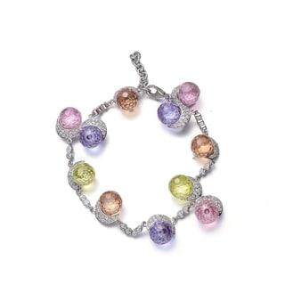 Collette Z Sterling Silver Cubic Zirconia Multi Color Bracelet