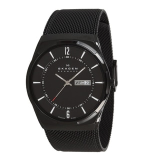 Aktiv Men's Black Dial Black PVD Mesh Bracelet Watch