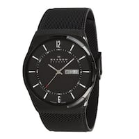 Skagen Men's SKW6006 Black Dial Black PVD Mesh Bracelet Watch