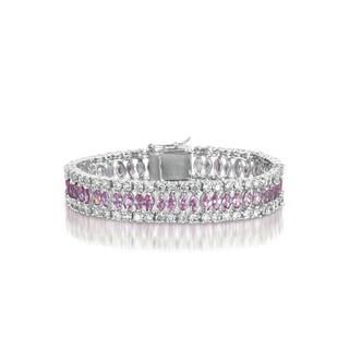 Collette Z Sterling Silver Pink and White Elegant Bracelet