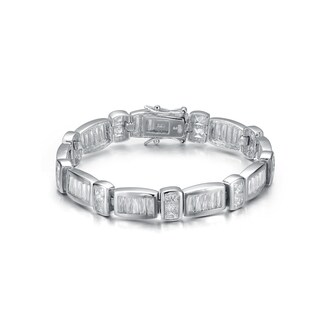 Collette Z Sterling Silver Cubic Zirconia Bar Bracelet