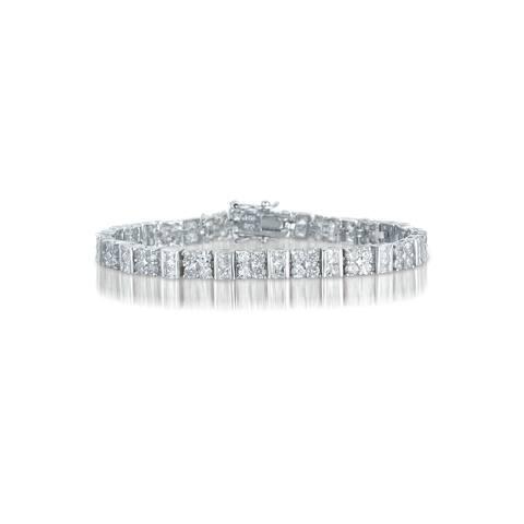 Collette Z Sterling Silver Cubic Zirconia Fine Bracelet - White