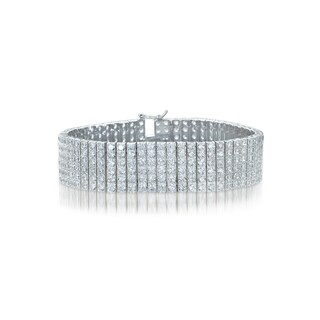 Collette Z Sterling Silver Cubic Zirconia 6 Row Tennis Bracelet|https://ak1.ostkcdn.com/images/products/10200302/P17324405.jpg?_ostk_perf_=percv&impolicy=medium