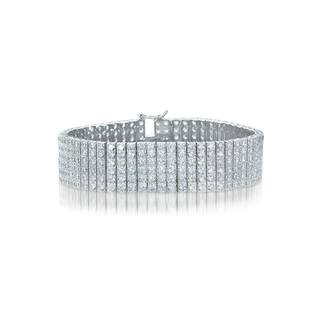 Collette Z Sterling Silver Cubic Zirconia 6 Row Tennis Bracelet|https://ak1.ostkcdn.com/images/products/10200302/P17324405.jpg?impolicy=medium