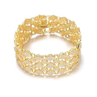 Collette Z Goldplated Sterling Silver Cubic Zirconia Wide Bracelet