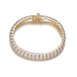Collette Z Goldplated Sterling Silver Cubic Zirconia Bracelet - White
