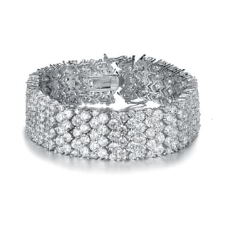 Collette Z Sterling Silver Cubic Zirconia Wide 6 Row Tennis bracelet|https://ak1.ostkcdn.com/images/products/10200341/P17324435.jpg?impolicy=medium