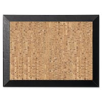 MasterVision Natural 36 x 24 Cork/Black Bulletin Board
