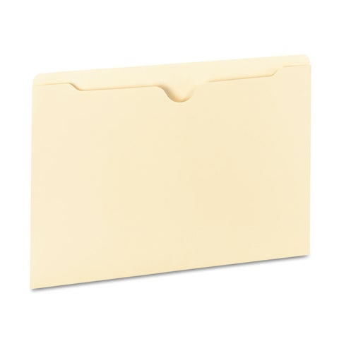 Universal One Manila File Jackets with Reinforced Tabs (Box of 100 File Jackets)