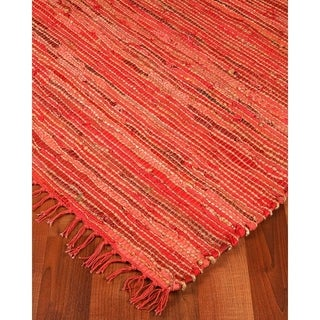 Natural Area Rugs Hand-woven Concepts Jute Leather Rug (5' x 8')