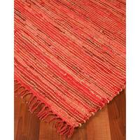 Natural Area Rugs Hand-woven Concepts Jute Leather Rug (8' x 10')