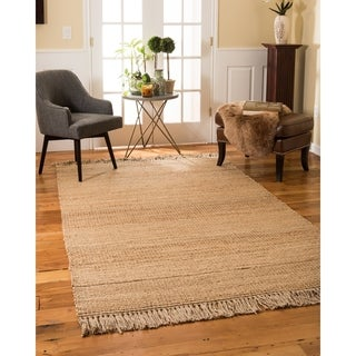 Natural Area Rugs Hand-woven Sicily Jute Rug (5' x 8') with Bonus Rug Pad