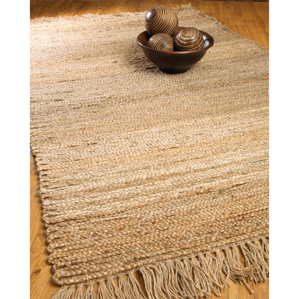 Natural Area Rugs Hand-woven Sicily Jute Rug (6' x 9') with Bonus Rug Pad
