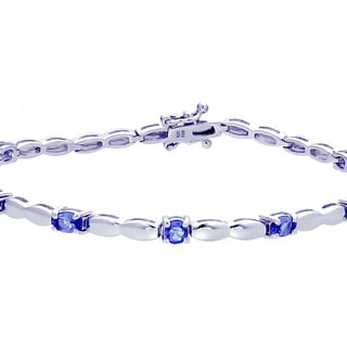 .925 Sterling Silver and 1.50 CT Tanzanite Bracelet