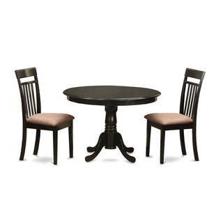 3-piece Small Cappuccino Kitchen Table Set
