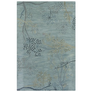 Rizzy Home Blue Home Craft Collection Hand-Tufted 100-percent Wool Accent Rug (3' x 5')